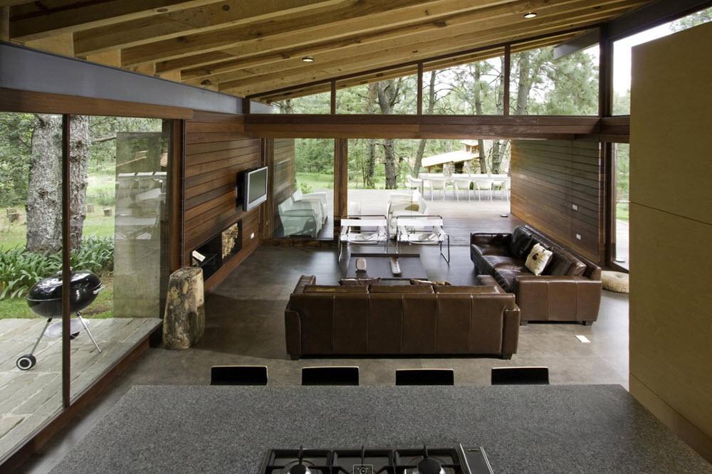 casa de campo rústico moderna
