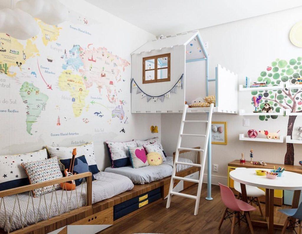 habitación infantil mapa