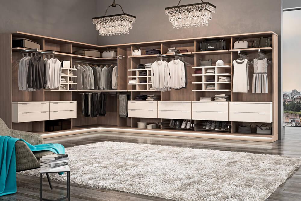 vestidor con estilo y lujo