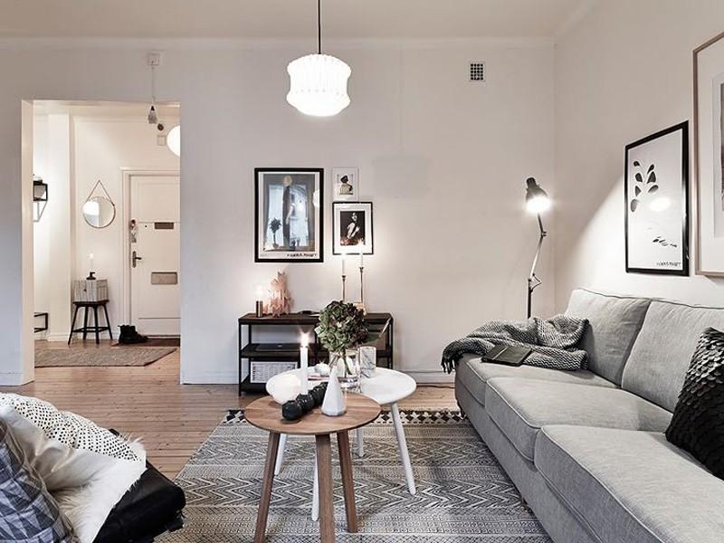 alfombras salón gris
