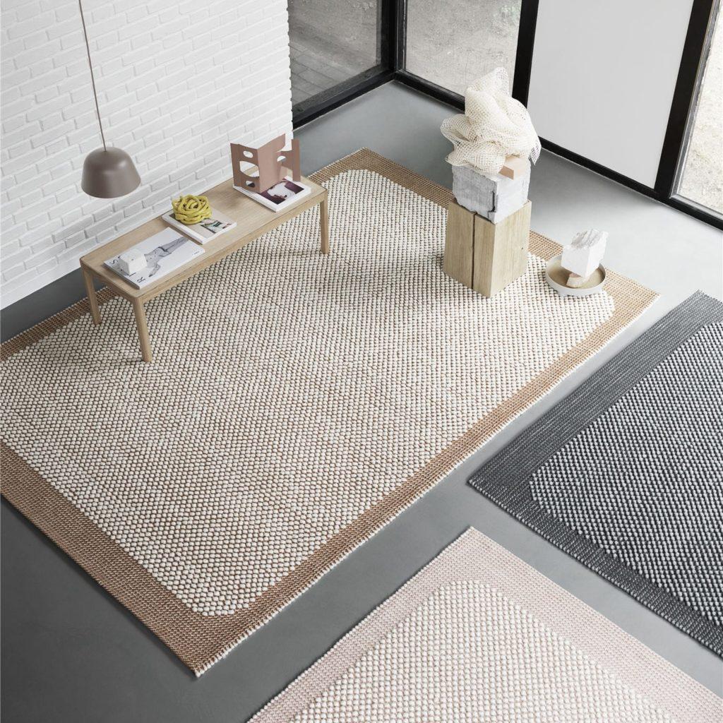 alfombra de yute moderna