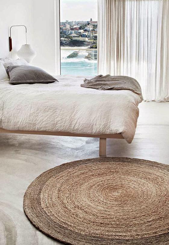 alfombra de yute pequeña