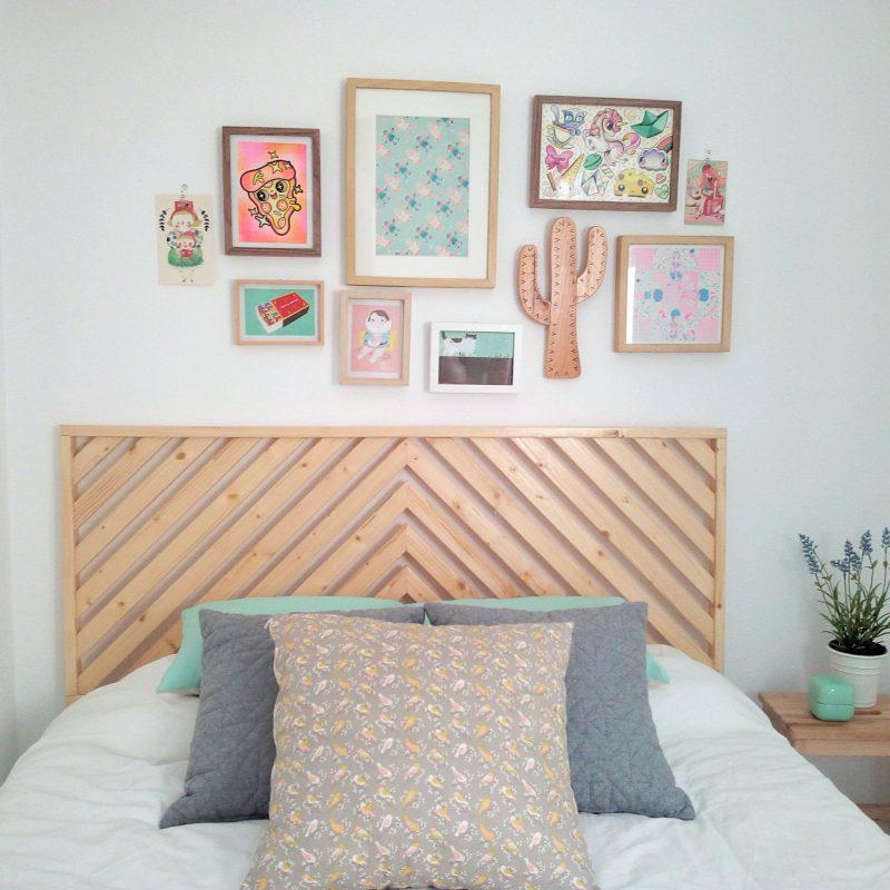 cabeceros de cama de madera originales