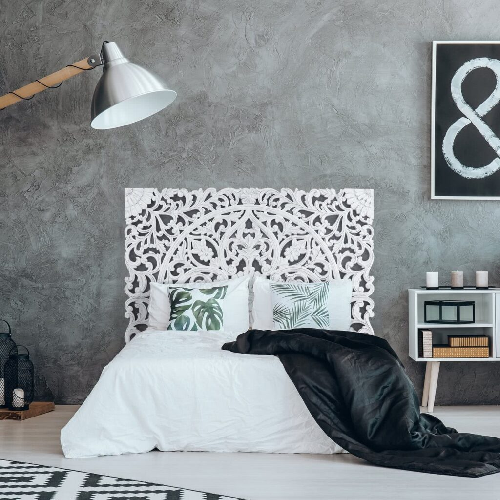 cabeceros de cama de madera tallada