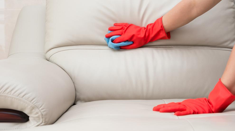 sofá de piel limpieza